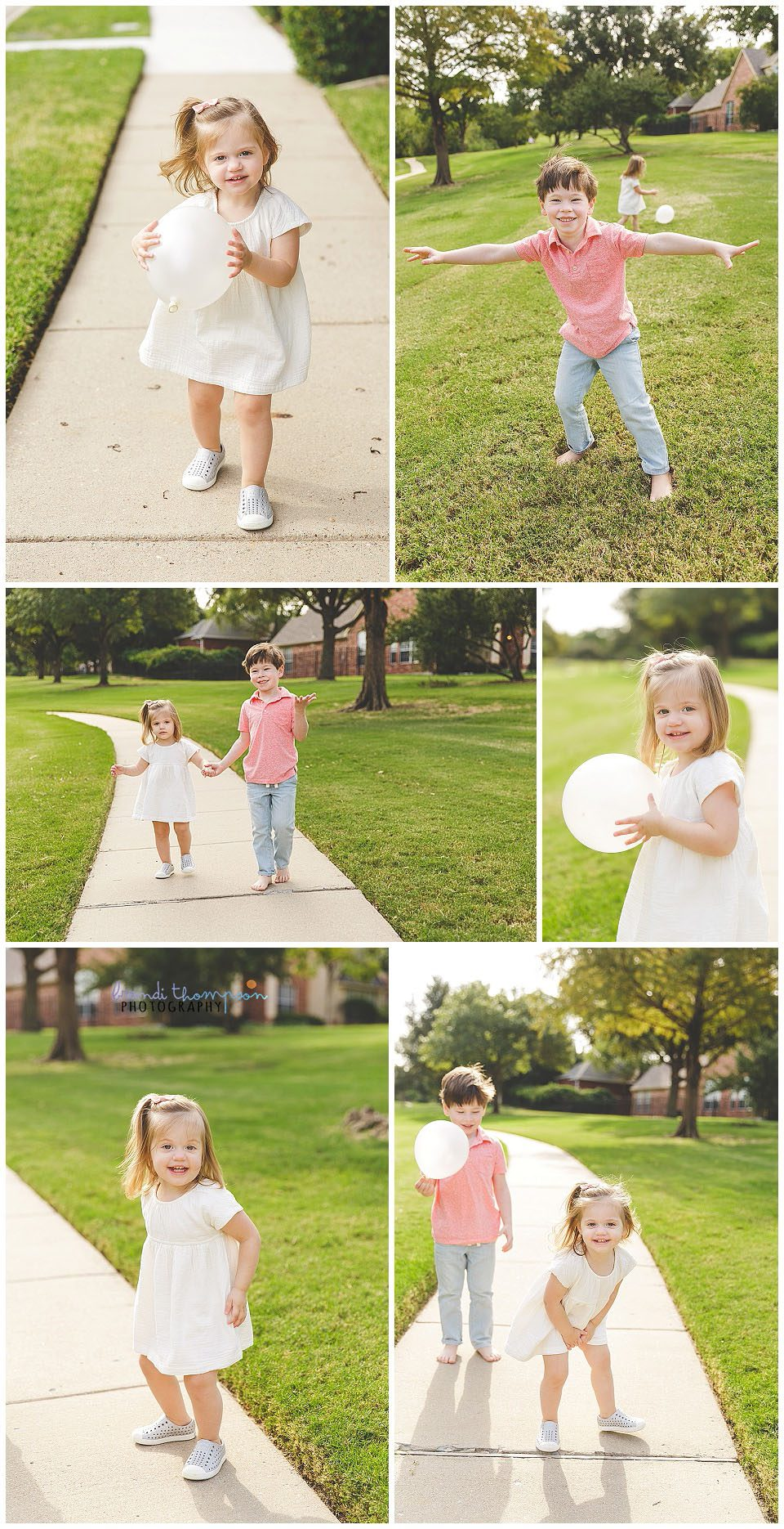 outdoor photography with young siblings in plano, tx
