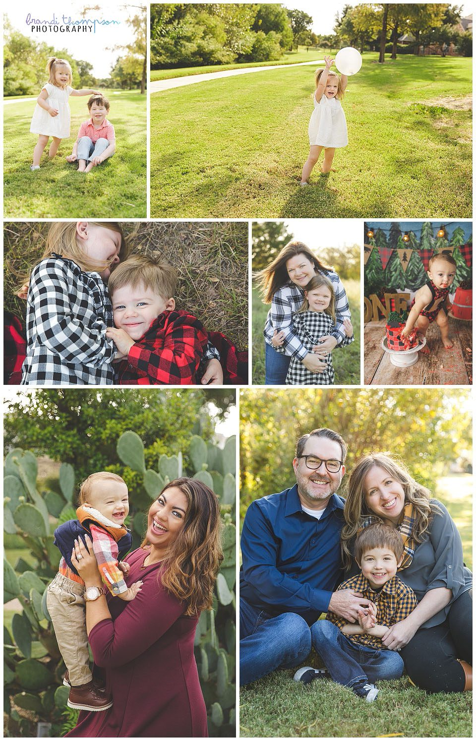 A collage of child and family photographs